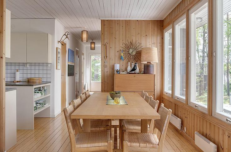 A Mid-Century Modern house in Sweden with 4 bedrooms in 1,130 sq ft.     www.facebook.com/SmallHouseBliss