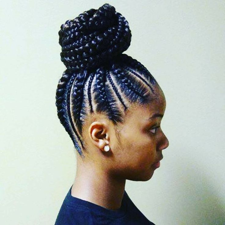 Cornrow updo. Bunlife inspiration for my sisters