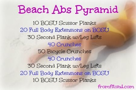 how to get a beach stomach