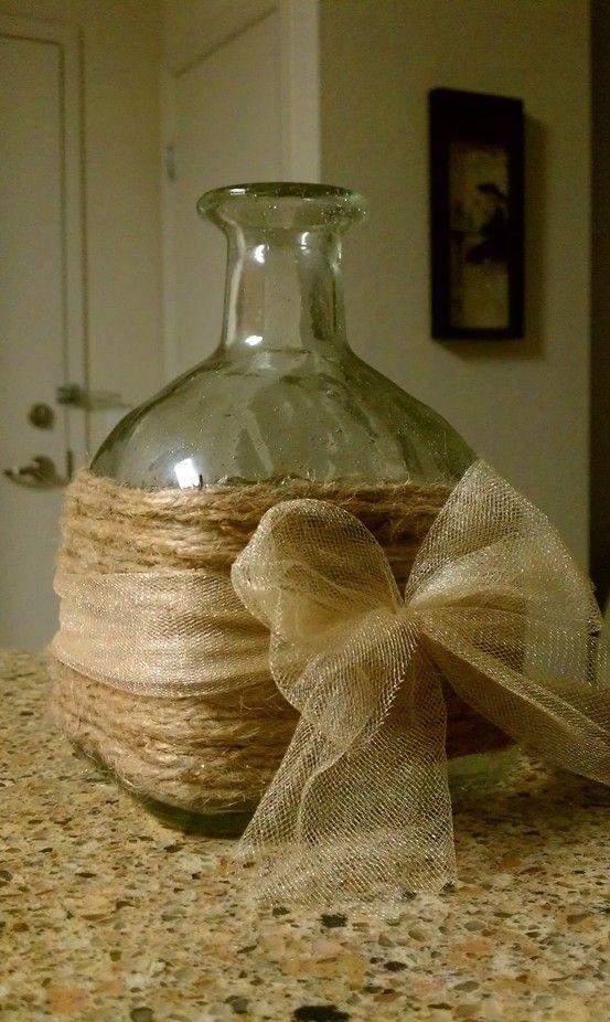 Reciclaje de botellas de vidrio bonitas como una botella de Patron