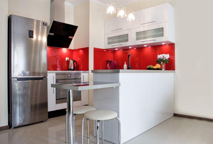 Mała kuchnia otwarta na salon - Darex Szczecin