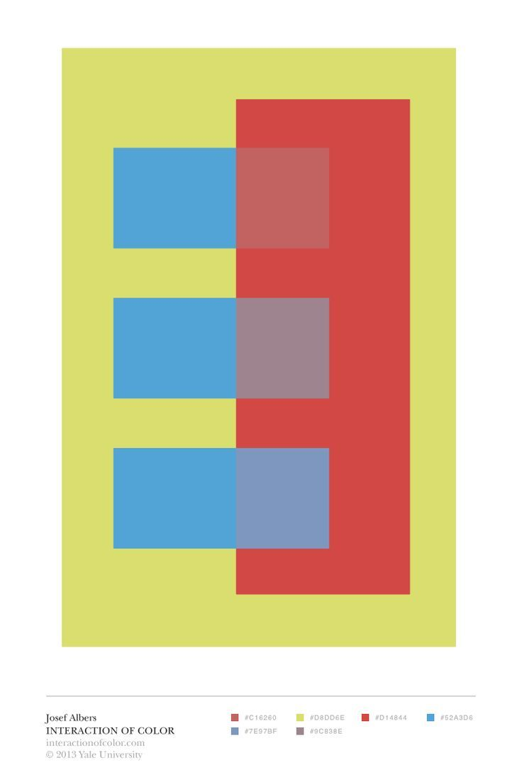 Albers 39 interaction of color transparence and space for Josef albers color theory