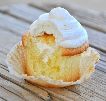 Twinkie cupcake with real ingredients!