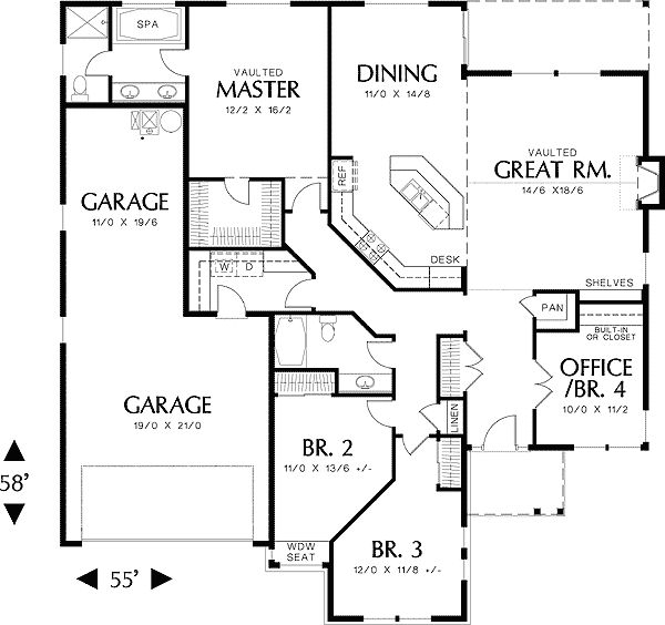 17 best ideas about craftsman floor plans on pinterest for Open floor plan craftsman