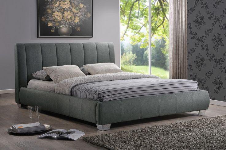Baxton Studio Marzenia Contemporary Grey Fabric Queen Size Bed - Grey