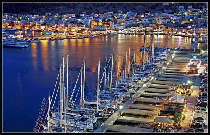 Kalymnos port at sunrise