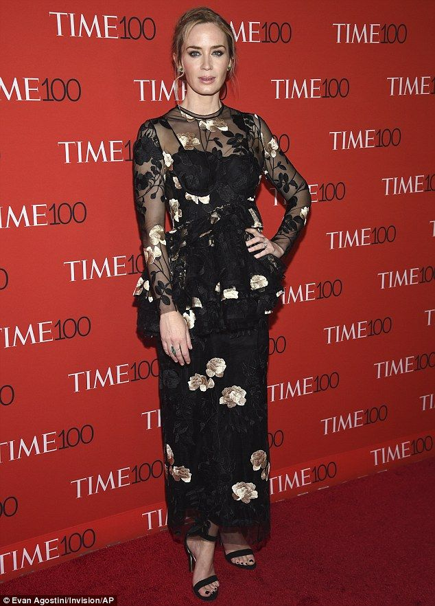 Emily Blunt wows in floral dress as she joins husband at