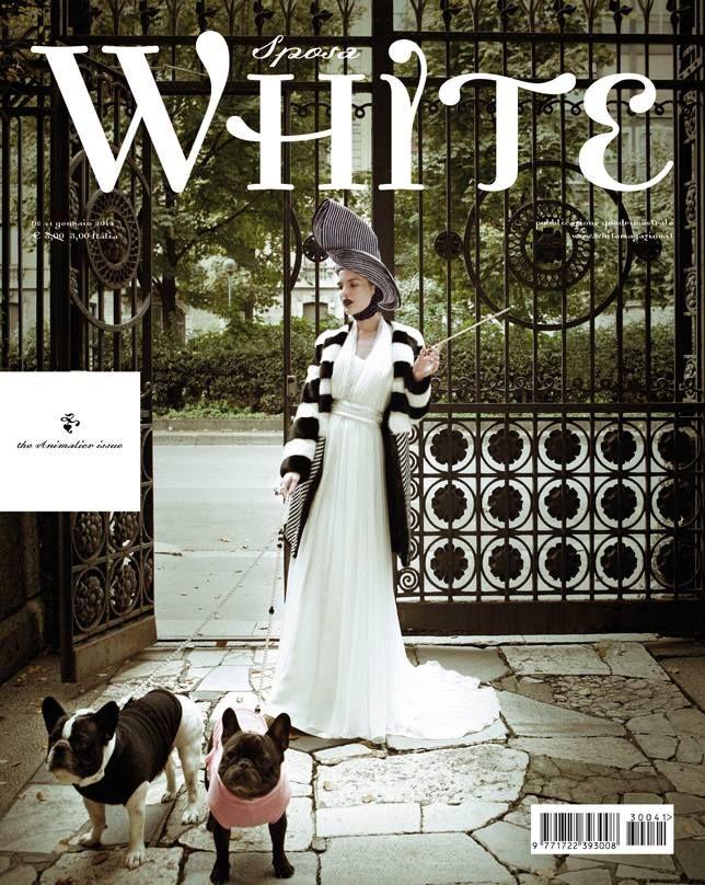 White Sposa 41 - the Animalier issue  Ph. Cosimo Buccolieri - servizio di Cristina Canovi - abito Prêt à Porter di Atelier Aimée @Atelier Aimée
