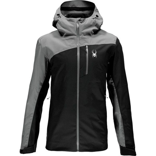 Spyder Jagged Shell Jacket ($210) ❤ liked on Polyvore featuring men's fashion, men's clothing, men's activewear, men's activewear jackets and mens activewear