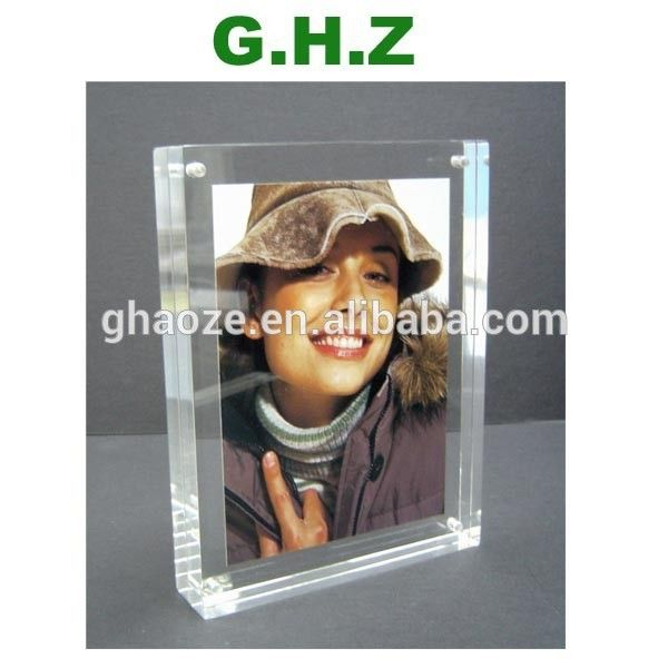 Custom Acrylic Frameless Picture Frame With Screw Factory