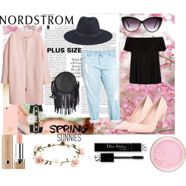 Spring Style Guide with Nordstrom: Contest Entry by andreeamoldo on Polyvore featuring H&M, KUT from the Kloth, River Island, Deux Lux, rag & bone, Tory Burch, Eloquii, Accessorize, Marc Jacobs and Nordstrom