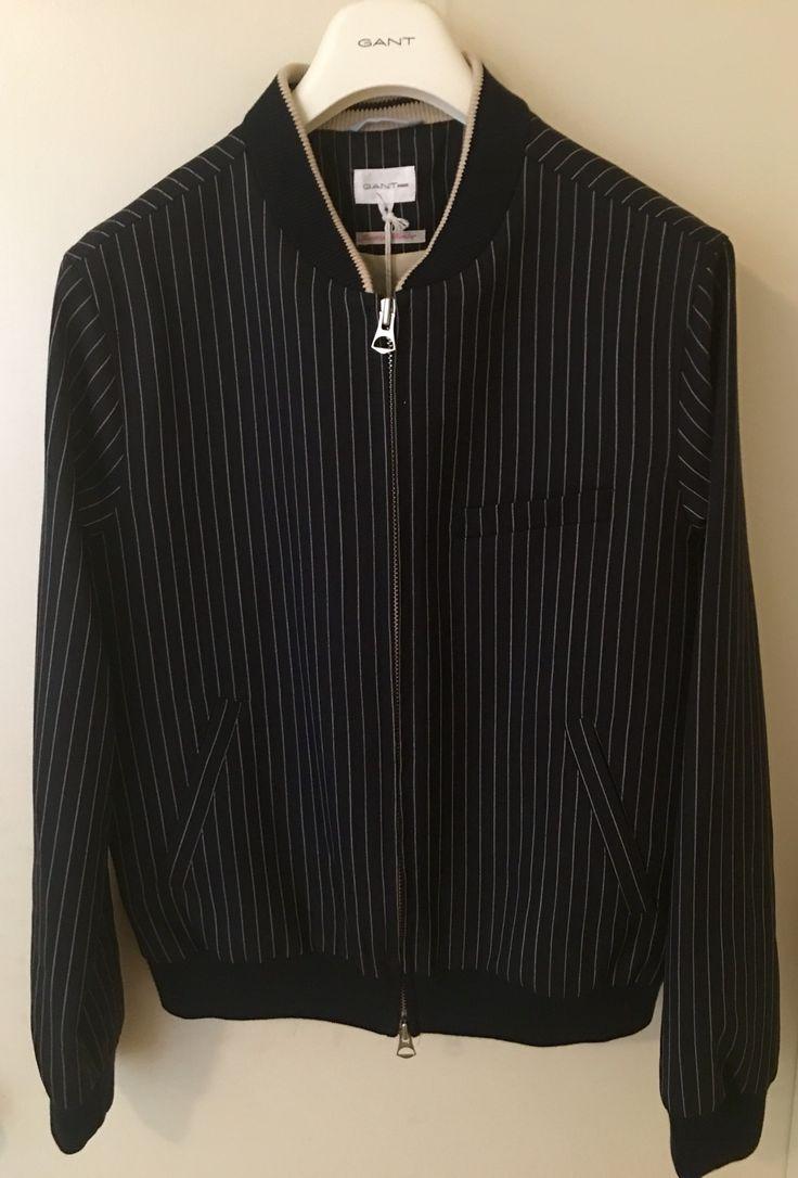 Gant Rugger Pinstripe Bomber Jacket   Menswear, Gant rugger, Men ...