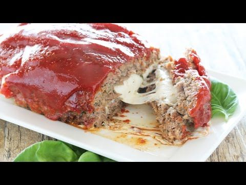 Mozzarella Stuffed Meatloaf - add Serrano peppers, onion, and bell peppers