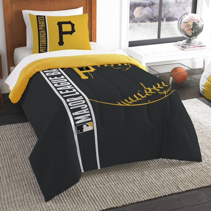 MLB Pirates Baseball 2 Piece Twin Comforter Set