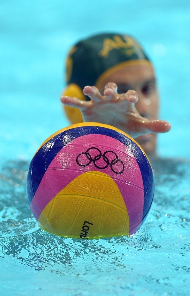 Watching the water polo Olympic events!