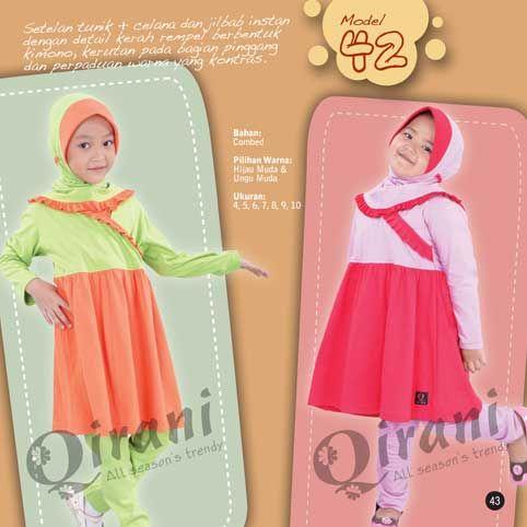 #Baju #anak dilengkapi dengan celana dan jilbab