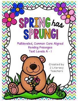 This is a bundle of all 7 of our spring themed multileveled passages. There are 7 different sets of passages with seven different themes. Each set has 6 passages on the same topic at six different text levels, A- I. This allows all students to access the same text at their level.