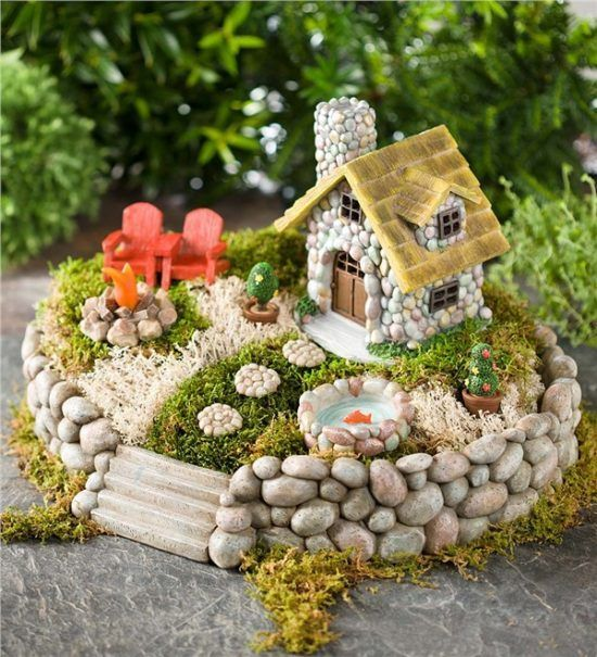 Diy Miniature Stone Houses For Beutiful Gardens - Do It Yourself Samples