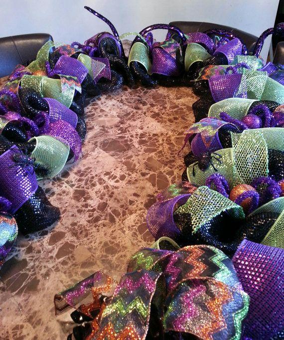 deco mesh garland halloween garland - Deco Mesh Halloween Garland