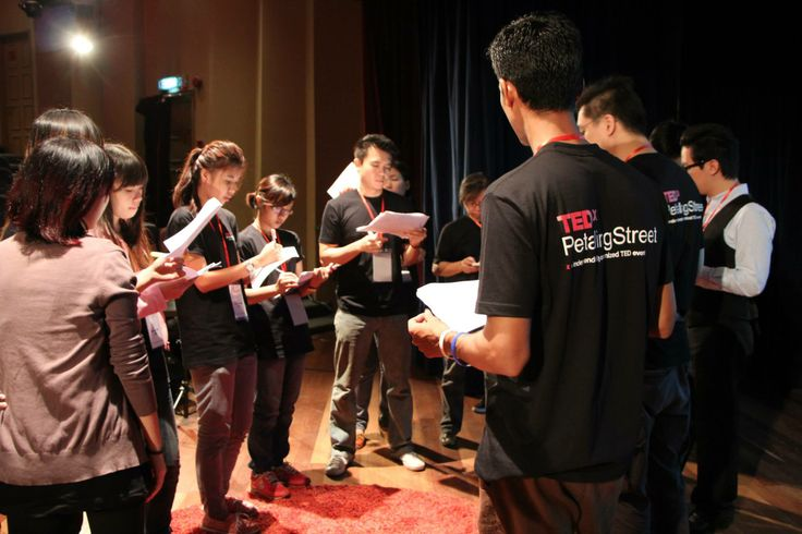 Pre-production! Crew briefing before we begin.  #TEDxPetalingStreet2013ConnectingDots #TEDxPetalingStreet