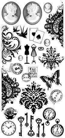 Kaisercraft - Timeless Collection - Rub Ons - Treasures at Scrapbook.com $2.49