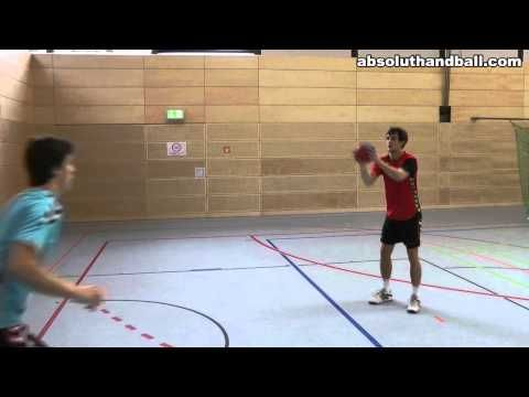 Teamhandball training for wingman (2) - YouTube