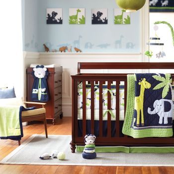about as cutesy as i can go with animals, but i really like the bumpers, sheets and wall art here.