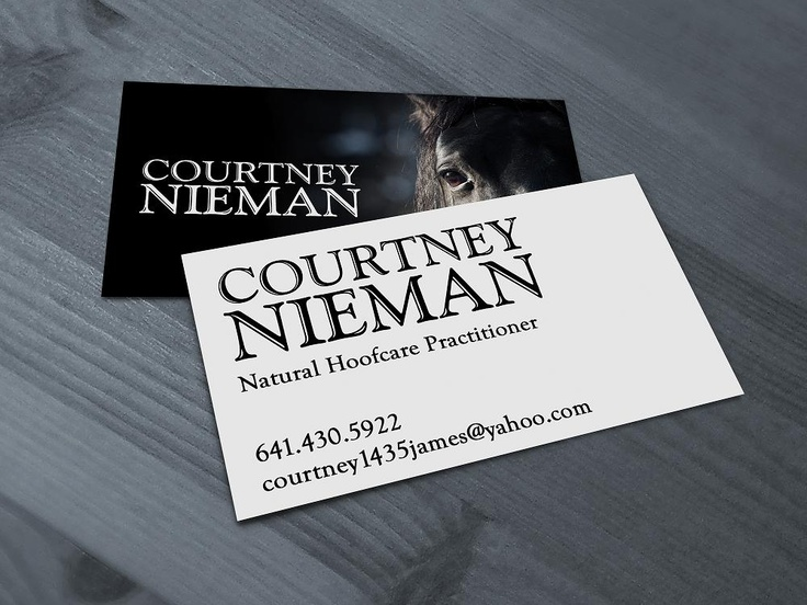 Courtney Nieman - Ferrier Business Cards with Bronze Painted Edges