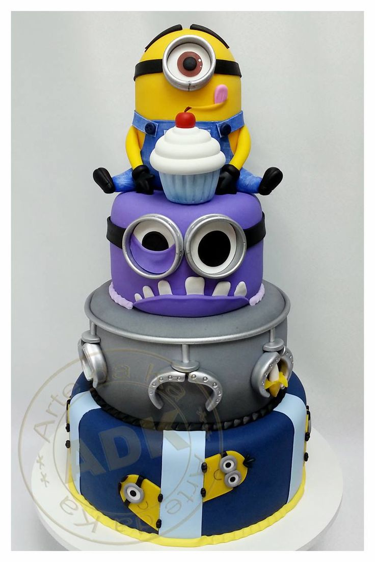 Despicable Me 2 cake by Arte da Ka If only my kiddos were still little, they'd be getting this one this year!