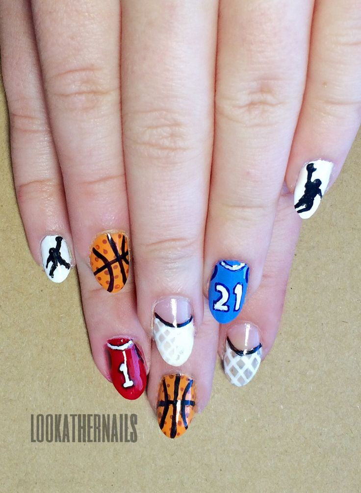 The 25 best basketball nails ideas on pinterest cal basketball march madness basketball nail art by lookathernails prinsesfo Choice Image