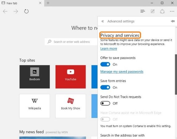How to Adjust #Microsoft #Edge Privacy and #Security Settings