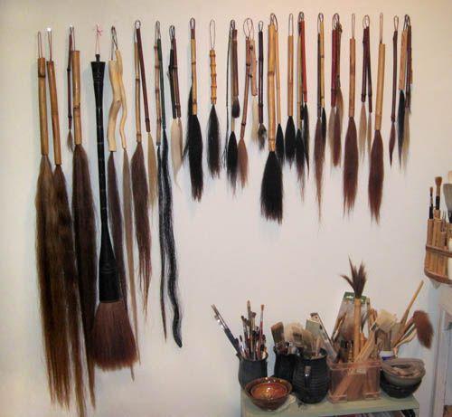 Hand Made Brushes  Daria White Pottery