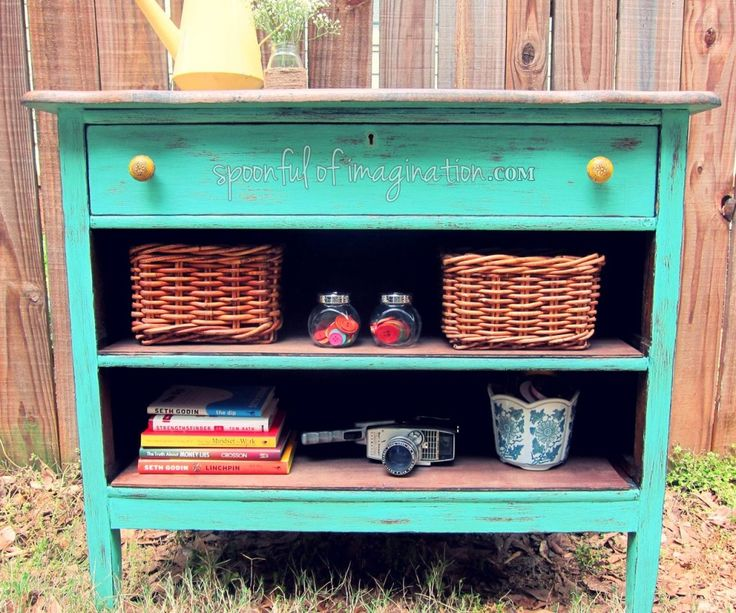 I turned an old dresser with broken drawers into a piece that I now love! Come see how to do it, so you can do it too!