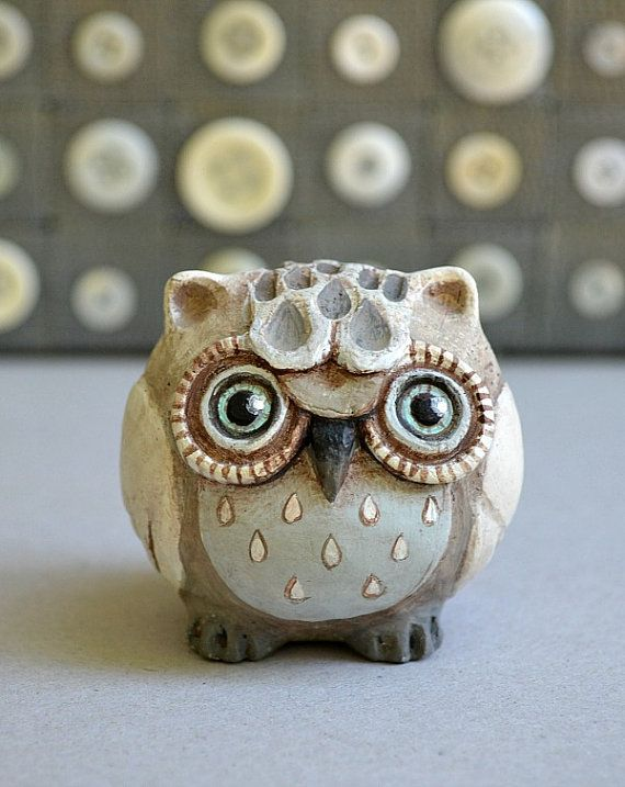 Little Owl Roly Poly Original Hand Painted by CartBeforeTheHorse