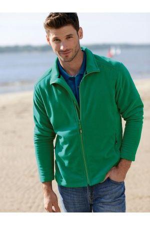 Herren T-Shirts - Leichte Fleece-Jacke grün