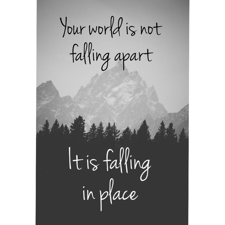 Apart From: Your World Is Not Falling Apart, It Is Just Falling Into Place