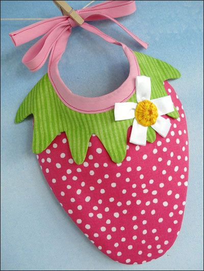 Strawberry & Watermelon Bibs Sewing Pattern Download from e-PatternsCentral.com -- Simply irresistible!