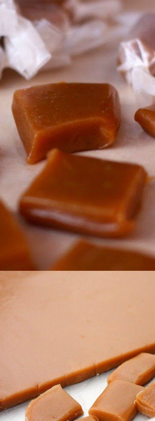 These Homemade Caramels from Tastes Better From Scratch are perfectly soft and chewy. They make the most delicious, melt in your mouth holiday gifts for neighbors and friends!