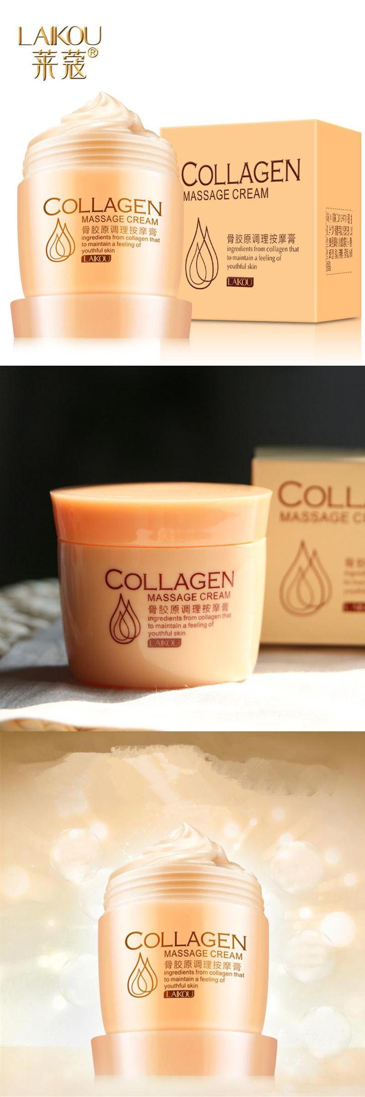 [Visit to Buy] LAIKOU Collagen Massage Whitening Cream Exfoliate Deep Pore Cleansing Oil Balance Facial Cream Massage Cream Skin Care #Advertisement