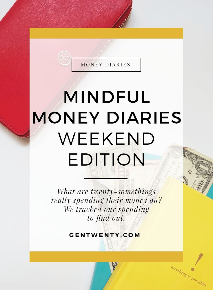Five GenTwenty contributors tracked their spending, mindful money diaries style. The goal was to be intentional with their spending. Let's see how they did.