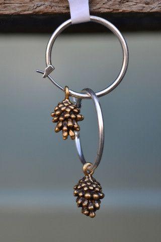 Hultquist 0400 Fir Cone Silver Earrings