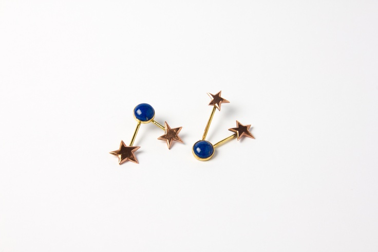 Pendientes con lapislázuli/ Earrings with lapis lazuli