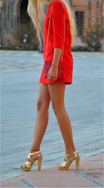 Short red...