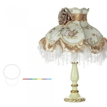 Stylish lamp with LED Light and multicolored lace