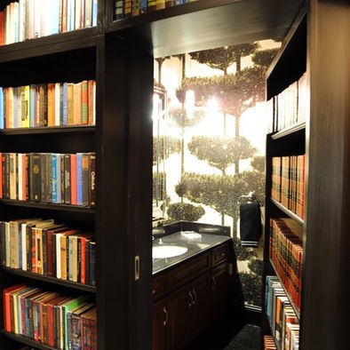 Another bookcase door.  Home Office Bookshelves Design, Pictures, Remodel, Decor and Ideas - page 27