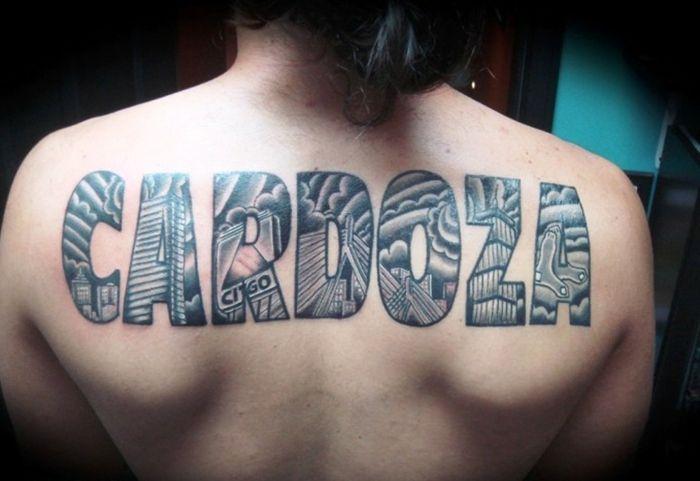 Tatuajes En La Espalda Hombres Letras