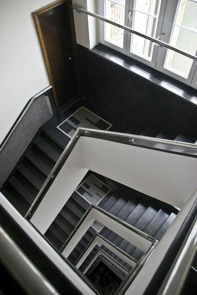 Reich & Birnbaum House, staircase |1936 | Gdynia, Poland, Abraham Street | architect:  Edward Furshmiedt