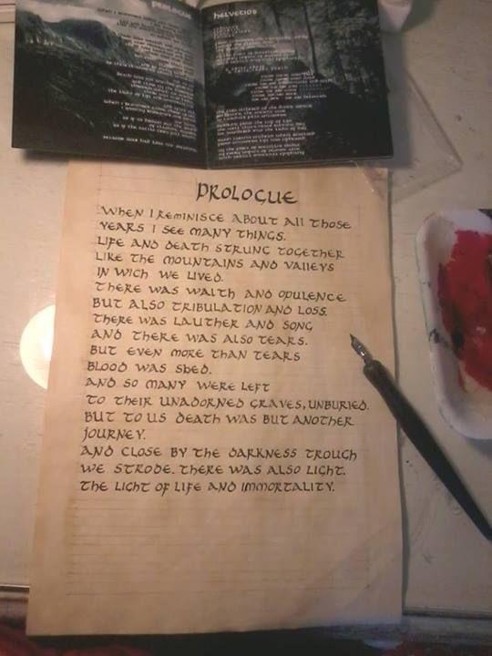 Proceso de armado del texto a partir de una de las letras del disco Helvetios de Eluveitie.