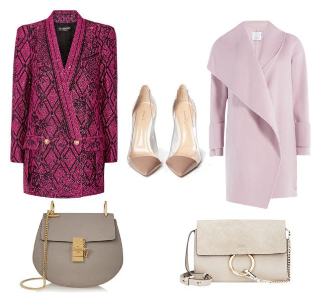 """""""2 combos"""" by lilyks on Polyvore featuring Balmain, Vince, Gianvito Rossi and Chloé"""