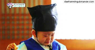 Minguk cries after being scolded by his teacher #daehan #minguk #manse #song #triplets #brothers #kpop